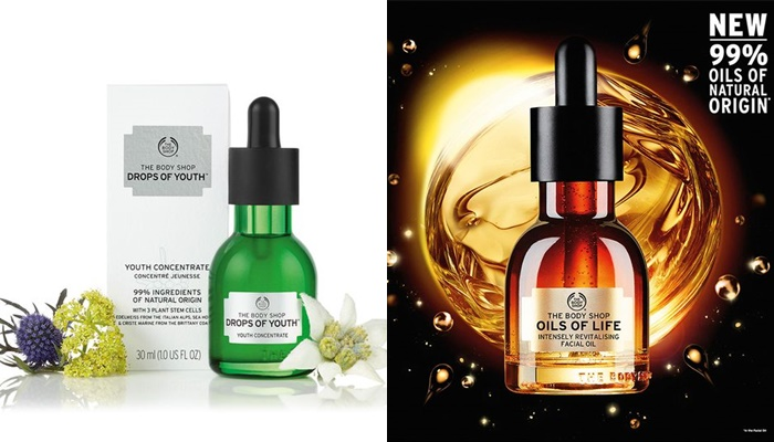 The Body Shop Drops Of YouthTM và Oils Of Life